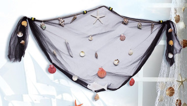 Fish Nets with Shells and Decorations