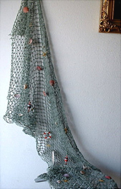 Fish Nets with Shells and Decorations NDHLK14