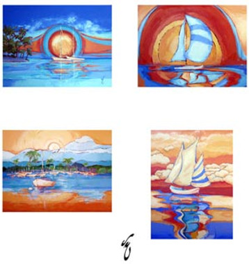 Unique Blank Sailing Notecards A