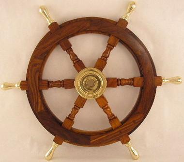 "18"" & 24"" Brass Handles Helms Wheel"