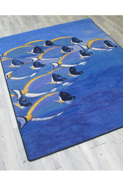 Coastal Fish Fine Designer Rugs Shapes
