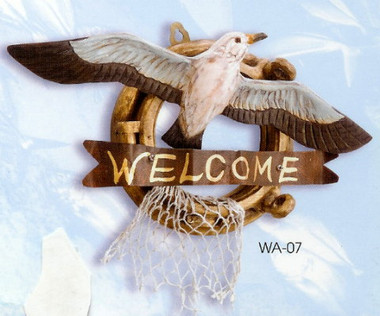 Coastal Welcome Seagull Sign