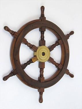 "24"" Nautical Wood Ship Wheels"
