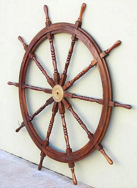 """72"""" Wooden Ships Helm Boat Wheel"""