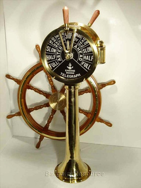 "47"" Full Size Brass Engine Order Telegraph"