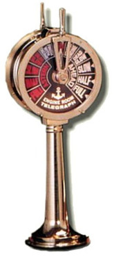 "18"" Brass Ship Engine Telegraph 110 v."