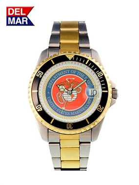 Men's Marine Military Dive Watch-Two Tone