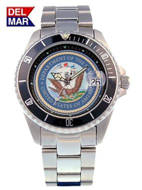 Men's Navy Military Watches-Stainless Steel