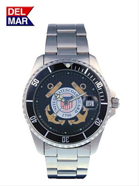 Mens Coast Guard Military Watch Stainless