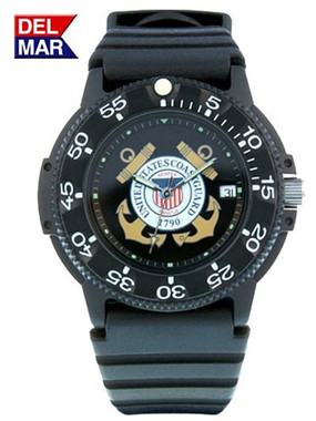 US Coast Guard Waterproof Watch on Dive Band