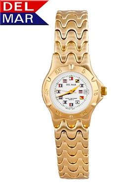 Women's 5 Microns Classic Dress Nautical Dial Watch