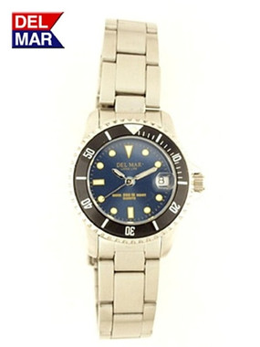 Women's Stainless Classic Dive Watch Navy Face