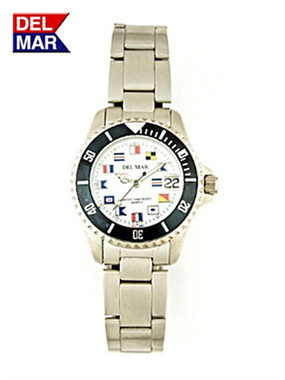Women's Stainless Steel Nautical Flags Watch