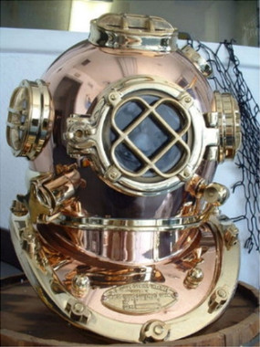 "18"" Mark V Deluxe U.S. NAVY Diving Helmet"