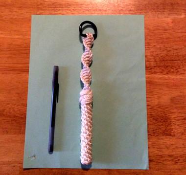 "8"" Nylon Nautical Bell Rope Key Lanyard"
