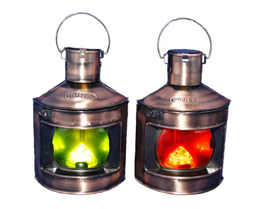 Decorative Port and Starboard LED Lanterns