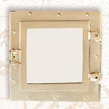 "11"" Square Ships Porthole Mirror"