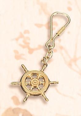 Brass Ships Wheel Key Chain