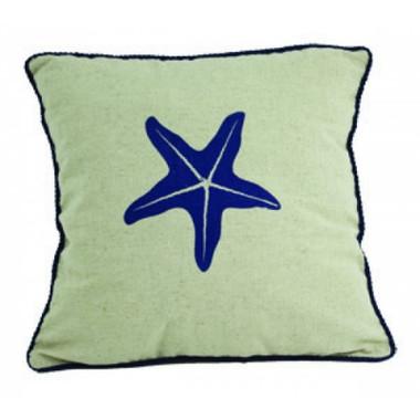 Starfish Nautical Beach Pillow