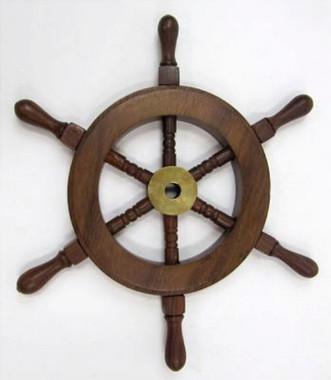 """9"""" Wooden Ship Wheel"""