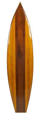 Vintage Look Cedar Wood Waikiki Surfboard