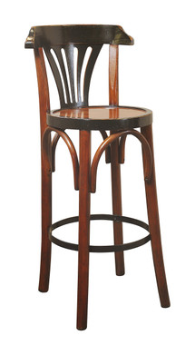 Bar Stool with Back, DeLuxe Grand Hotel, Honey