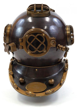 New Reproduction Mark V Diving Helmet made from high quality aluminum with no base.