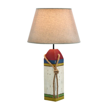 """24"""" Wooden Lobster Float Table Lamp"""