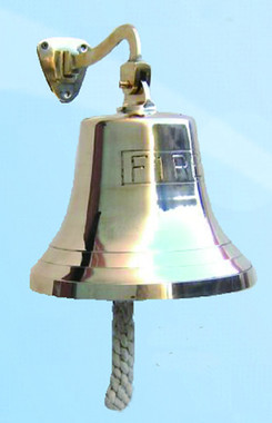 """8"""" Fire Bell Brass Wall Bell"""