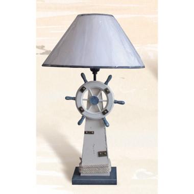 "18"" Ship Wheel Nautical Lamp"