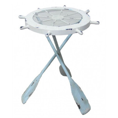 Nautical Table with Glass Top