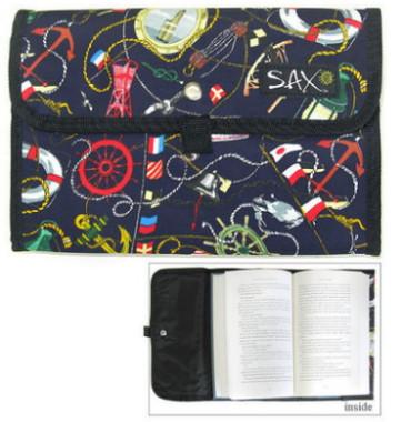 Medium Nautical Cotton Book Covers