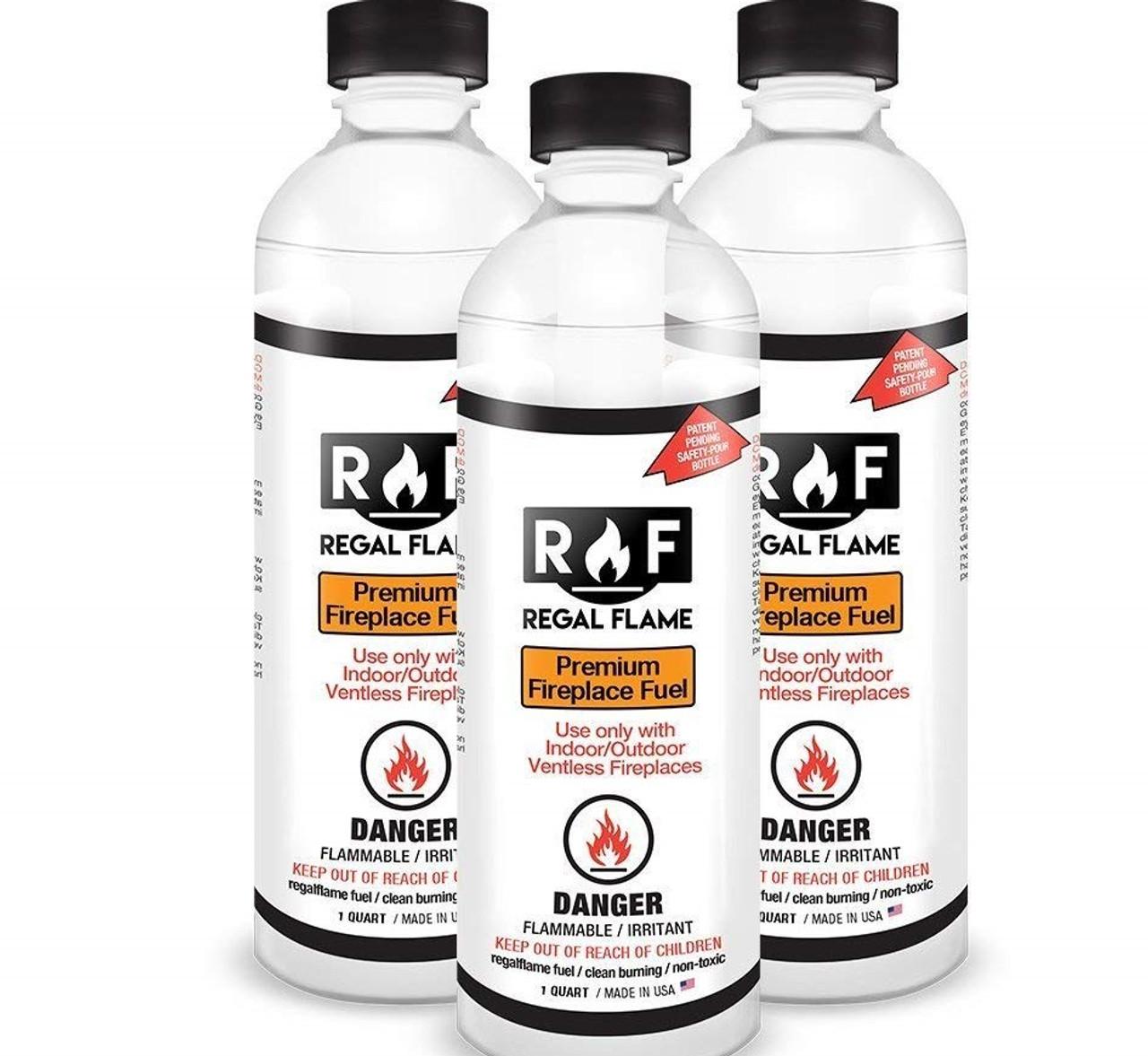 Regal Flame Premium Ventless Bio Ethanol Fireplace Fuel 3 Quarts