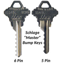Schlage 5 & 6 Pin 'Master' Bump Keys