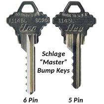 Schlage 5 & 6 Pin 'Master' Bump Keys