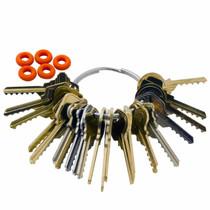 PoeHXtyy Strong Lock Pick Easy Lock Reparaturwerkzeug-Kit T/ürschloss/öffner Bump Key Tools