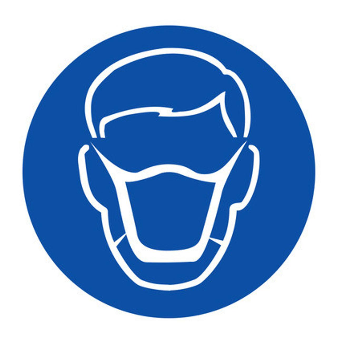 Respiratory Protection Mask Symbol Vinyl 10cm