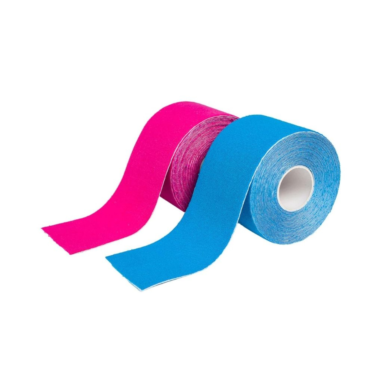 FDR2110 Kinesiology Tape Blue Pink | 5cm x 5m | Elasticated Sports Tape for Muscle Support