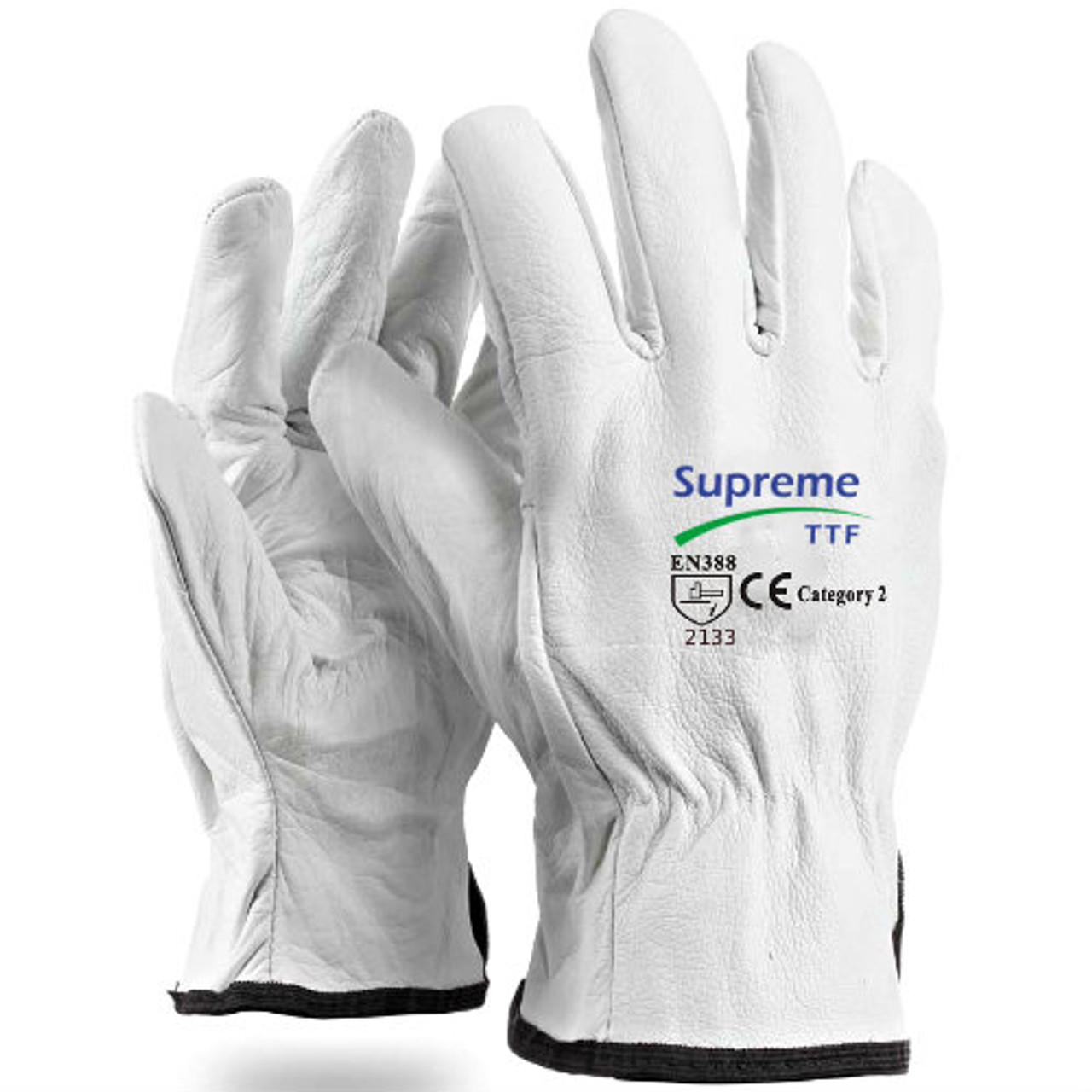 GLG2207P Drivers Gloves Leather With Cotton Lining White