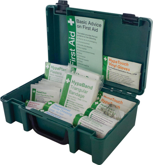 Kitchen First Aid Kit for 1 to 10 people in Economy Box open