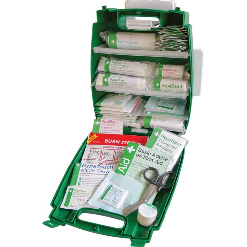 FAK2020 First Aid Station Low Risk 1 to 100 People British Standard BS8599 Medium  Kit Open Only