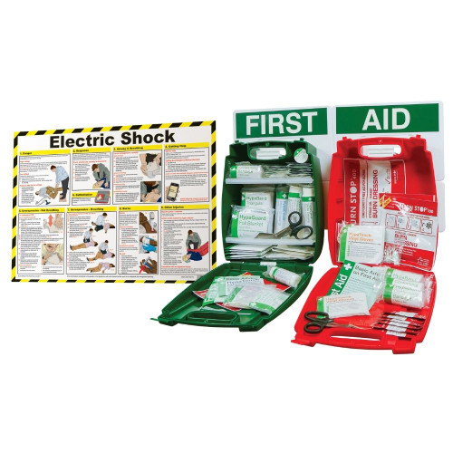 FAK2200 First Aid Station for the Treatment Of Electric Shock Injuries Open