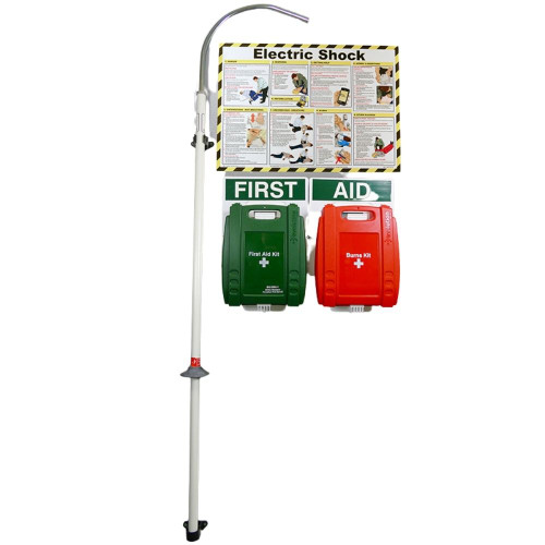 FAK2201 First Aid Station for the Treatment of Electric Shock with Rescue Hook  On Wall
