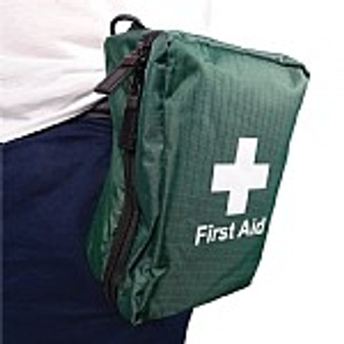 FAK2054 Personal Trauma Kit in Belt Pouch On Belt Action Shot