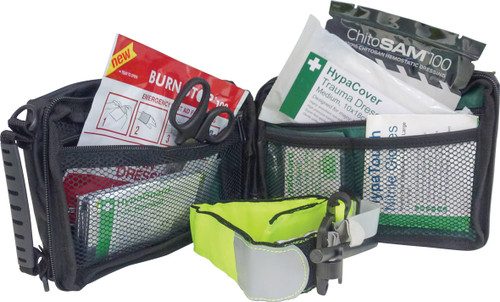 Personal Trauma Kit in Belt Pouch with Z Fold Haemostatic Dressing