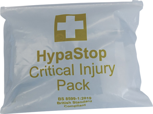 HypaStop Critical Injury Pack to Stop Major Bleeds closed