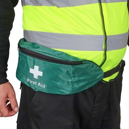 Personal Issue First Aid Kit for Lone Workers in Bum Bag BS8599 Compliant content external Closed on Waist