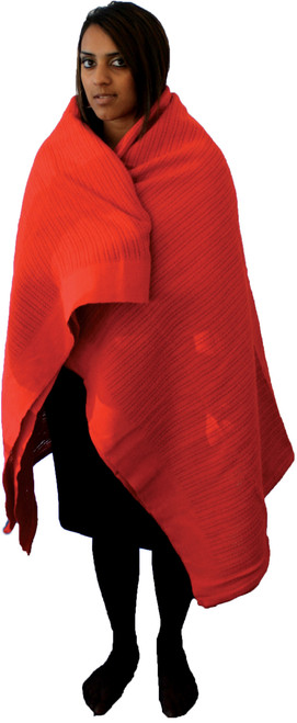 Ambulance Cotton Blanket Red for Keeping Patients Warm (150 x 200cm) action