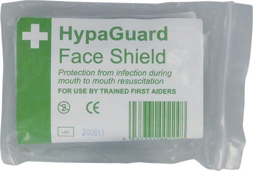 CPR Face Shield With One Way Valve for Mouth to Mouth Resuscitation in use