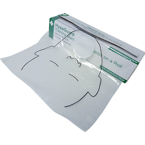 CPR Face Shields for First Aid Training Manikins Roll of 36 open